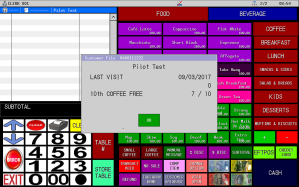 Uniwell Lynx provides extensive Customer Management features for Brisbane cafes and restaurants